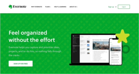 Go beyond the button - Evernote site