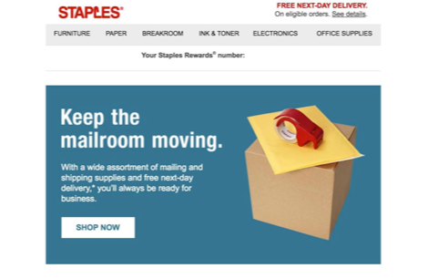 Go beyond the button - Staples site