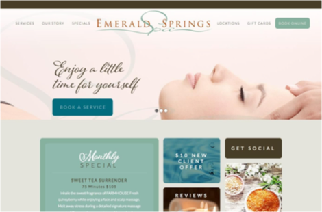 Focus on what's in it for them - Emerald Springs Spa site